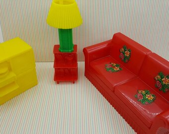Marxie Mansion Living Room  Furniture Fits 3/4 Renwal Sofa  lamp  tv end table hard plastic