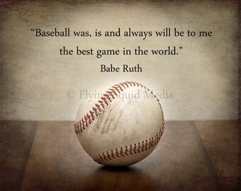"Boy's Room Decor - 16x20  Baseball photo print - ""the best game in the world"" - baseball art, baseball poster, man room decor"