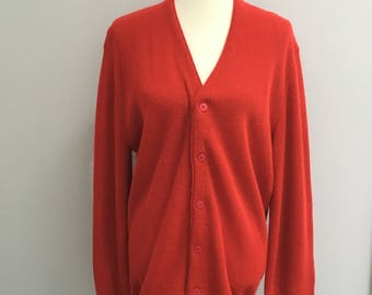 Vintage cardigan sweater // Jantzen brand // red