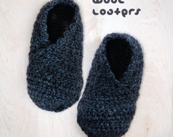 Wool Toddler Loafers Crochet Pattern Toddler Booties Toddler Slip-on Toddler Shoes Crochet Pattern (WL02-G-PAT)
