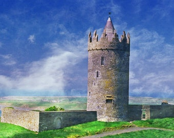 Doolin, County Clare, Irish Castle, Doonagore Castle Ireland Photography Art Print Irish Decor Landscape Photo, Wall Decor, Office Decor