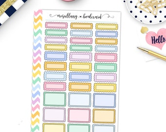 Pastel Frilly Box Variety Sheet | 0426 MINI BINDER