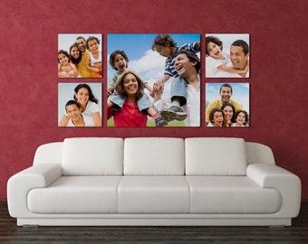 Custom Family Photo Panel, Aluminum Photo Panel with Shadow Mount Display , Chromolux Photo Display, Photo Wall Collage
