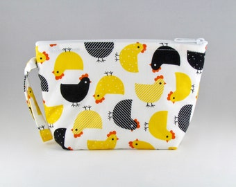 Chick Party Yellow Makeup Bag - Accessory - Cosmetic Bag - Pouch - Toiletry Bag - Gift