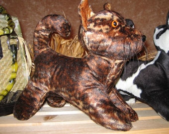 TORTOISE SHELL cat brown handmade cat for cat breeders stuffed animal CAT ornament for cat lovers stuffed kitten brown collectible cat ooak