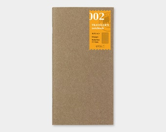 Traveler's Notebook Refill 002 Grid Notebook Refill for Regular Size Traveler's Notebook   Midori Insert (14246006)