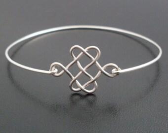 Celtic Knot Bracelet, Silver Knot Bracelet Bangle, Celtic Knot Jewelry, Celtic Jewelry, Scottish Jewelry, Scottish Bracelet, Celtic Bracelet