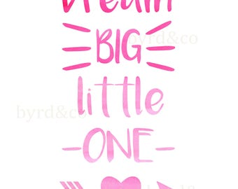 Digital Print-16x20- Instant Download-Dream Big