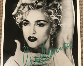 Signed Madonna 1980s Autographed Glossy Photo ~ Genuine Madonna Signature Photograph
