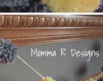 Pom pom garland, yarn garland, baby shower garland, wedding garland, nursery banner, nursery decor or newborn photo prop