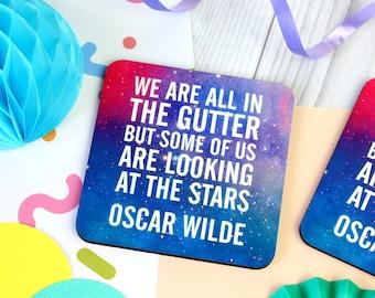 Oscar Wilde Quote Coaster. Oscar Wilde Coaster. Book Lover. Book Geek. BookWorm. Book Nerd. Literary Gifts. Literary Coaster. Bookish Gifts.