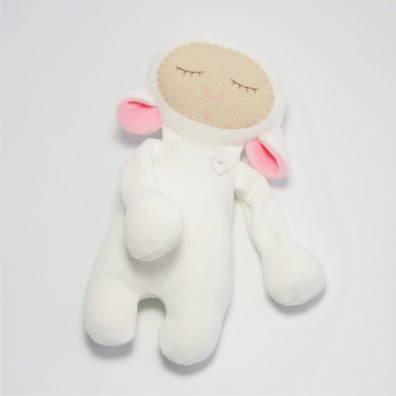 Newborn Baby Toy Lamb Lovey Lamb Stuffed Animal