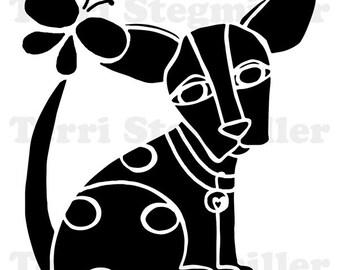 """Dog 6x6"""" Stencil"""