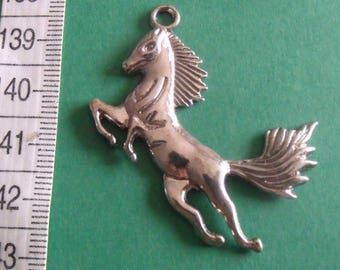 48mmx27mm Silver Horse charm pendant