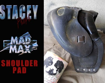 Mad Max ( the road warrior /beyond thunderdome style ) wearable shoulderpad prop for leather jacket