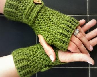 Crochet Glove Pattern No.914 Fingerless Gloves with Straps Crochet Pattern Digital Download PDF English