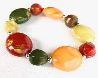 Vintage beaded bracelet colorful beads