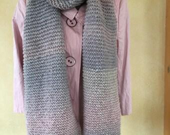 Cuddly XL scarf with alpaca