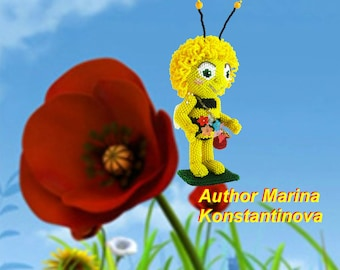 "Pattern / Tutorial Beaded Ornament -Master Class ""Maya the bee """