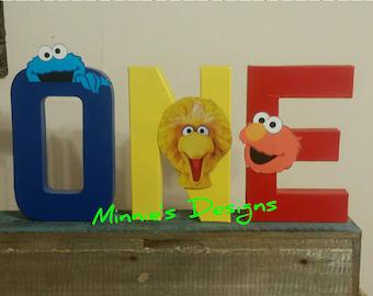 Sesame Street birthday,FREE SHIPPING Sesame Street letter props,Sesame Street cake smash,Sesame Street 1st birthday  outfit,Sesame Street