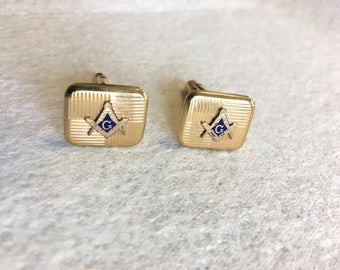 Pair of Gold Filled Free Mason Cuff Links - Reserved for William W.