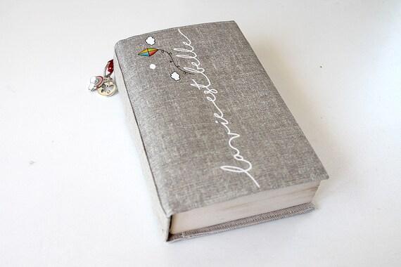 "Adjustable pocketbook illustrated linen ""life is beautiful"""
