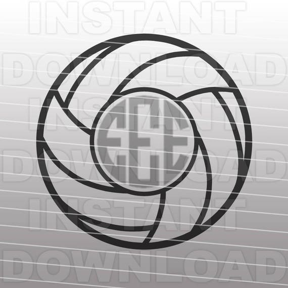 Volleyball Monogram SVG File Cutting Template-Clip Art for