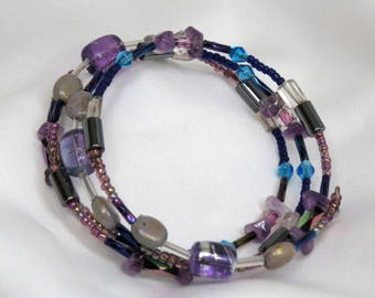 Mermaid's Dream Amethyst Wrap-around Bracelet