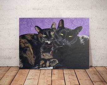 Cat Gift - Pet Portrait - Pet Memorial - Custom Pet Portrait - Animal Art - Pet Painting - Custom Pet Painting - Animal Painting -