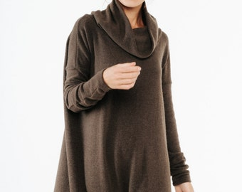 Brown dress | Brown maxi dress | Cowl neck dress | LeMuse brown dress
