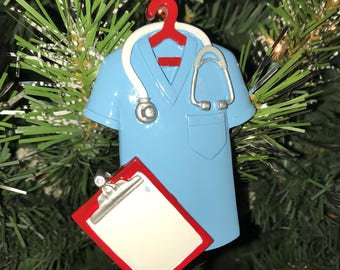 Scrubs Blue Ornament