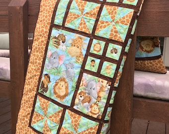 Jungle Babies Homemade Baby/Crib/Toddler Quilt