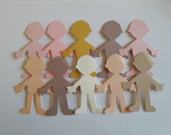 Cut out shapes for card making, children's crafts - People / bodies, Clothes & hair, Dresses