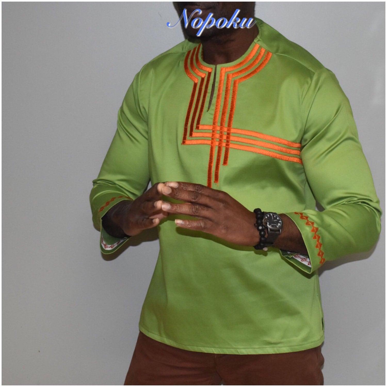 Mens' kaftan top,Ankara embroidery mens' shirt,Mens' embroidery shirts,Tunic shirt,African print shirts, Men's dress shirts,Grey men's shirt