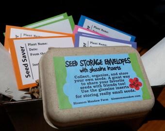Seed Storage Envelopes, 10 Pack including Glassine Inserts
