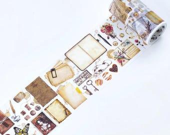 Vintage Style Washi Tape (80mm X 5M)