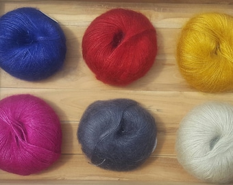 Jingle silk and Mohair Yarn