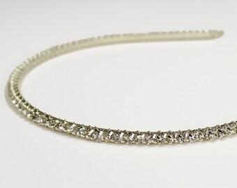 Thin Bridal headband tiara Rhinestone  Wedding hair accessories clip head band head piece