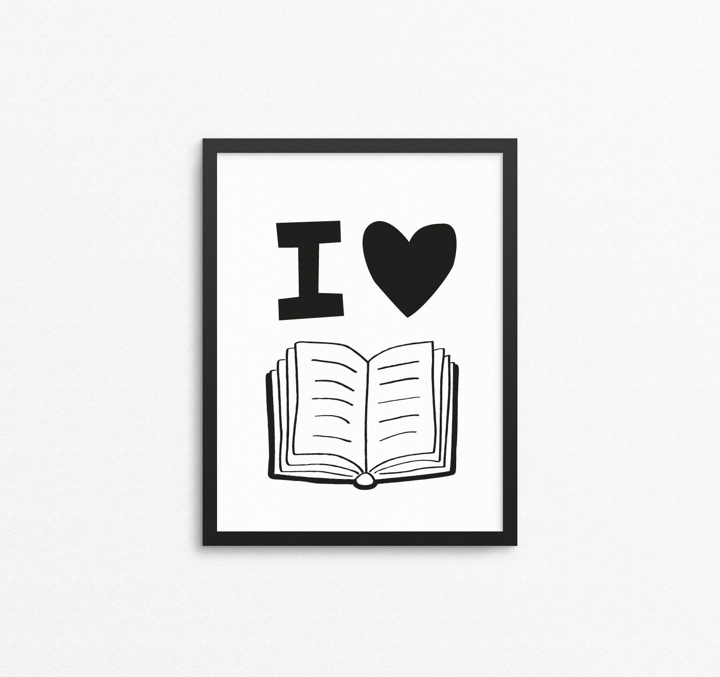 Quotes Wall Art Kids Wall Art I Love Books Reading Quote Print Printable