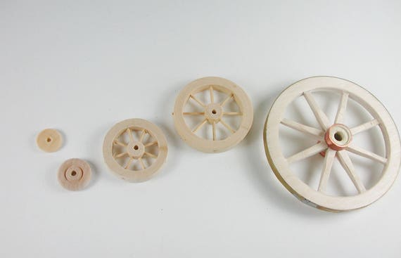 Wooden wheel for the tricycle, the scooter, the car, the car, the carriage for, Dollhouse miniatures, cribs, miniatures, model making
