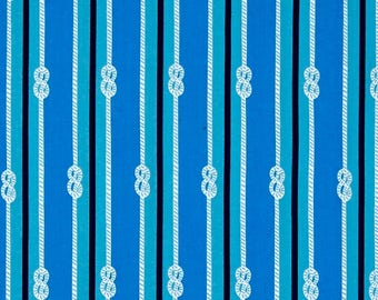 Blue Rope Knot Lines from Robert Kaufman's Seaside Treasures Collection by Pink Light Designs