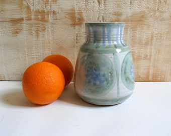 ceramic vase glazed blue/green celadon 1960