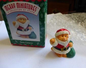 New in Box Hallmark Merry Miniatures SANTA CAMERON Ornament