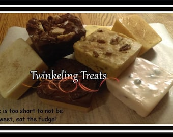 1/2 POUND (+) of FRESH HomeMade Creamy Fudge In Lots Of NEW Flavors ~ Lots to Choose From