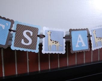 Giraffe It's A Boy Banner, Giraffe Baby Shower, Giraffe Sprinkle, Giraffe Party, Giraffe Theme, Baby Blue, Brown
