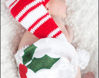 Holly Applique Baby Bloomers