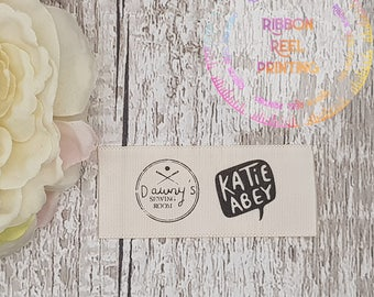 Care Labels / Bespoke Sew In Labels (25mm x 6cm) CE, EN71/3 Approved