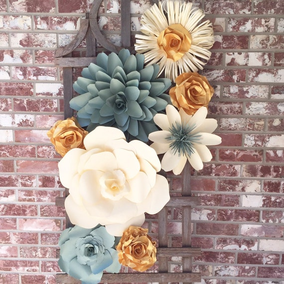 Wall Decoration Ideas Wedding: Large Paper Flower Wall Decor For Weddings Bridal Showers