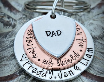 Dad Keychain Dad Gift Grandpa Keychain Daddy keychain Gift for Dad Father's Day Gift Men's Gift Papa Keychain Papa Christmas Gift For dad