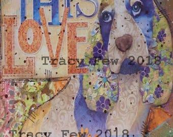 THIS LOVE   Postcard   Original Design   Print   Mixed Media    Art Journaling    Mailable   Frameable   Geekery   Geek